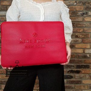Kate Spade Sienne LOGO Laptop SLEEVE Hot Chili RED